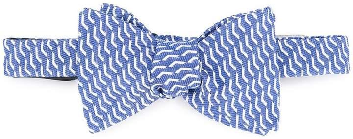 Gieves & Hawkes printed bow tie