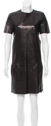 Celine Leather Shift Dress w/ Tags
