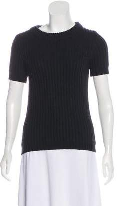 Marc by Marc Jacobs Rib Knit Short Sleeve Top