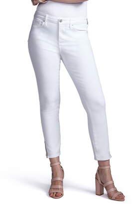 NYDJ Curves 360 by Slit Detail Skinny Ankle Jeans