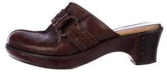 Frye Platform Leather Mules