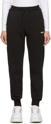 MSGM Black Mini Logo Lounge Pants