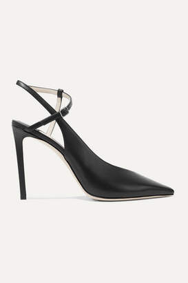 Jimmy Choo Sakeya 100 Leather Pumps - Black