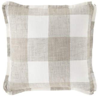French Laundry Home Buffalo Plaid Flat-Flange Pillow