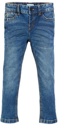 Mayoral Pique Slim-Fit Denim Jeans, Size 3-7