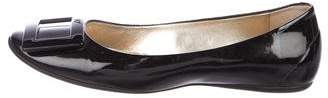 Roger Vivier Patent Leather Round-Toe Flats