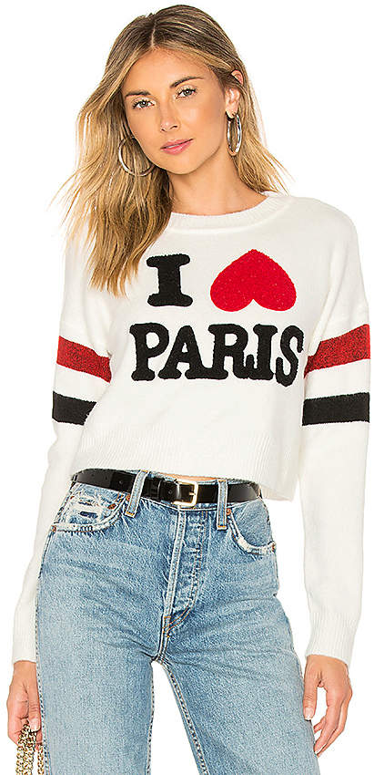 Marled x Olivia Culpo I Love Paris Sweater