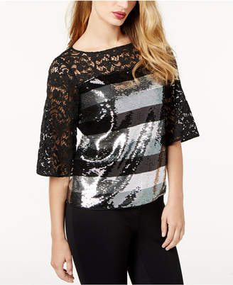 Sachin + Babi SB by Sequined Lace Blouse, Created for Macy's