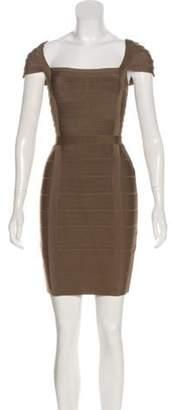 Herve Leger Kristen Bandage Dress Olive Kristen Bandage Dress