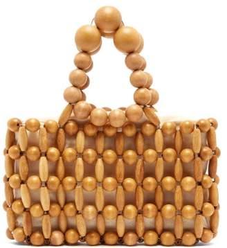 Cult Gaia Cora Bamboo Beaded Bag - Womens - Light Brown