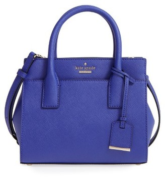 Kate Spade New York 'Cameron Street - Mini Candace' Leather Satchel - Blue/green $298 thestylecure.com