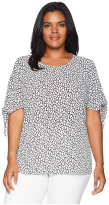 MICHAEL Michael Kors Size Graphic Leopard Top Women's Clothing