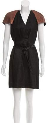 3.1 Phillip Lim Metallic Short Sleeve Dress