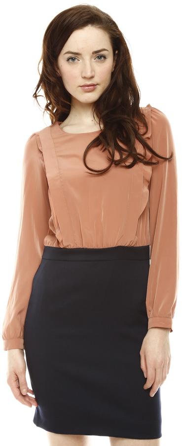 LU&SI Frill Long Sleeve Dress