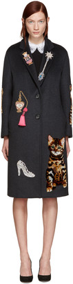 Dolce & Gabbana Grey Embroidered Coat $9,295 thestylecure.com