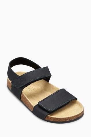 Boys Black Corkbed Sandals (Younger Boys) - Blue