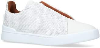 Ermenegildo Zegna Leather Pellatessuta Sneakers