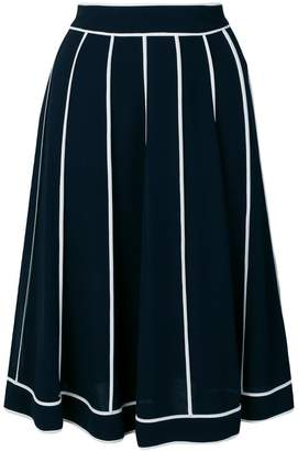 Edward Achour Paris pleated midi skirt