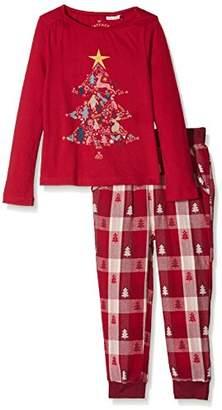 Fat Face Girl's Festive Tree Pyjama Sets,(Manufacturer Size: 4-5)