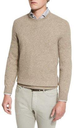 Ermenegildo Zegna Seamless Yak Crewneck Sweater, Oatmeal $445 thestylecure.com