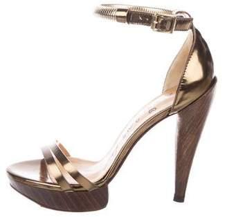 Lanvin Leather Wooden Sandals