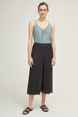 Great Plains Crinkle Dot Wide Leg Trousers
