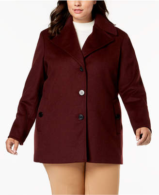 22dd4c3398f04 Calvin Klein Plus Size Single-Breasted Peacoat