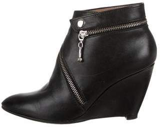 Belle by Sigerson Morrison Leather Pointed-Toe Booties
