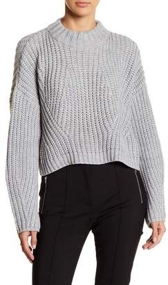 Gracia Mock Neck Cropped Sweater
