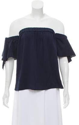 Milly Silk Off-The-Shoulder Top