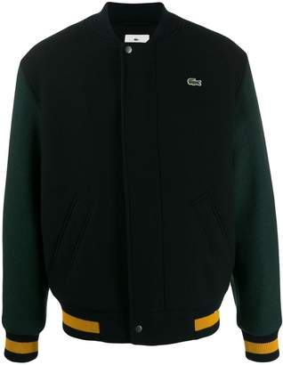 Lacoste Live colour block bomber jacket