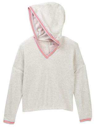 Zella Z By Hooded Plush Knit Pullover Sweater (Big Girls)