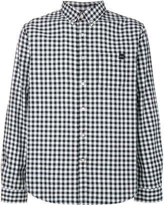 Edwin checked button-down shirt
