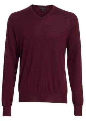 Saks Fifth Avenue COLLECTION V-Neck Lightweight Cashmere Sweater