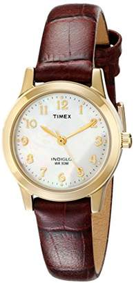 Timex Women's T21693 Essex Avenue Burgundy Croco Pattern Leather Strap Watch