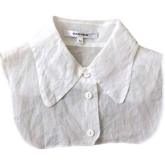 Carven White Cotton Scarves