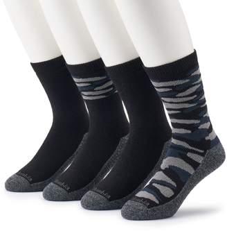 Columbia Men's 4-pack Camo & Solid Crew Socks