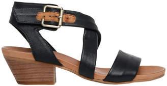 Cora Black/Tan Sandal