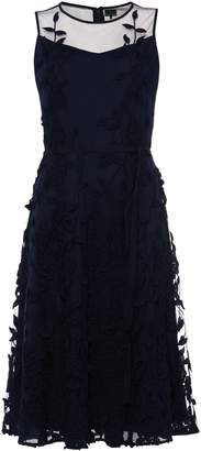 Next Womens Phase Eight Blue Kenzie Embroidered Fit & Flare Dress