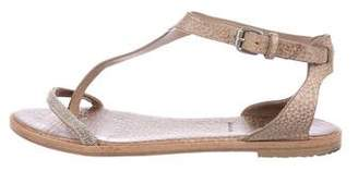 Brunello Cucinelli Monili Leather Sandals