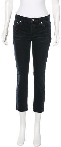 BLK DNM BLK DNM Cropped Straight-Leg Jeans