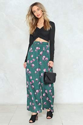 Nasty Gal More Flower to You Floral Wide-Leg Pants