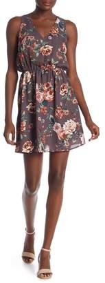 Everly V-Neck Floral Print Dress