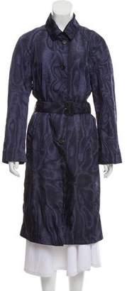 Prada Stripe-Printed Trench Coat