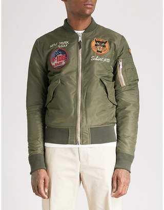 Schott Patch-embellished shell bomber jacket