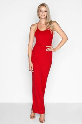 Girls On Film Outlet Red Lace Back Maxi