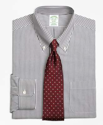 Brooks Brothers Milano Slim-Fit Dress Shirt, Non-Iron Bengal Stripe