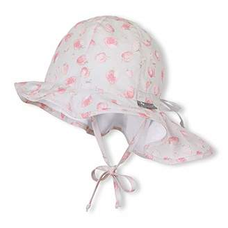 Sterntaler Girls Sun Hat with Ties and Neck Protection 063387137545