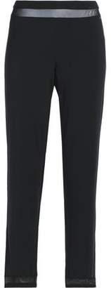 Calvin Klein Tulle-Trimmed Modal-Blend Jersey Pajama Pants