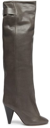 Isabel Marant Lacine Over The Knee Leather Boots - Womens - Grey